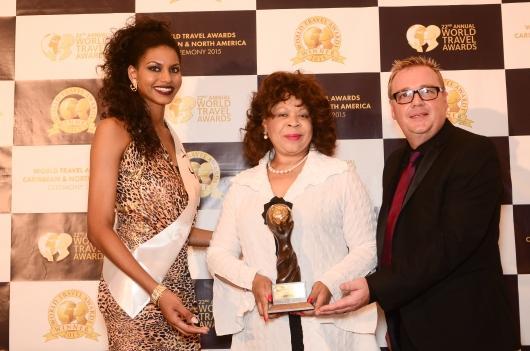 Ms Guise at Travel awards 2015